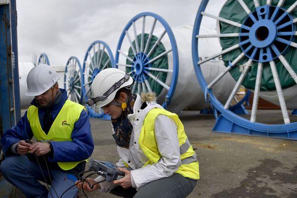 Les prototypes d'éoliennes maritimes ont été livrés en janvier 2017 à Saint-Nazaire.