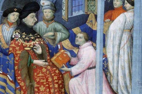 Le duc de Bourgogne Jean Sans Peur (à gauche).