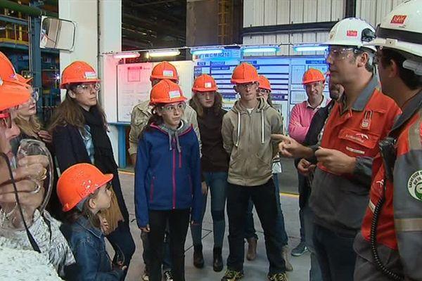 Environ 2.700 visiteurs pour les 100 ans du site d'ArcelorMittal de Saint-Chély-d'Apcher, en Lozère - 23 septembre 2017