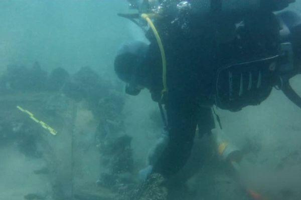 Les plongeurs du club d'archéologie sous-marine de Frontignan - été 2018