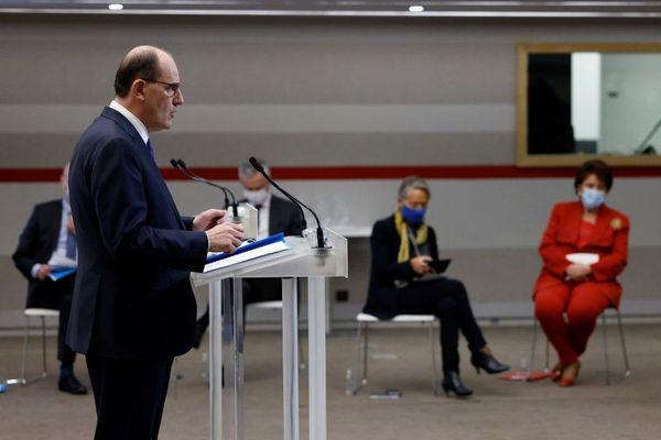 Jean Castex lors de la conférence de presse