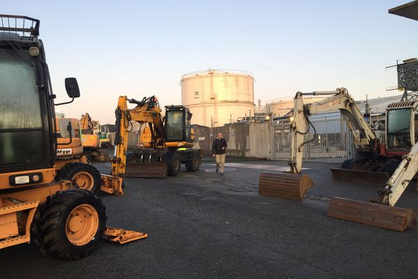 Blocage au dépôt pétrolier de Lorient