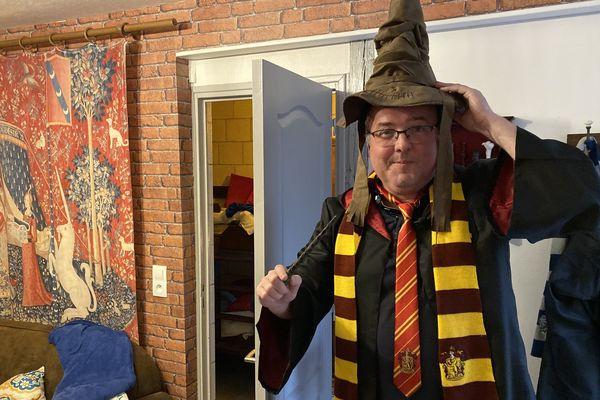 David Hartz, créateur de l'appartement Harry Potter que l'on peut louer sur Airbnb à Troyes.