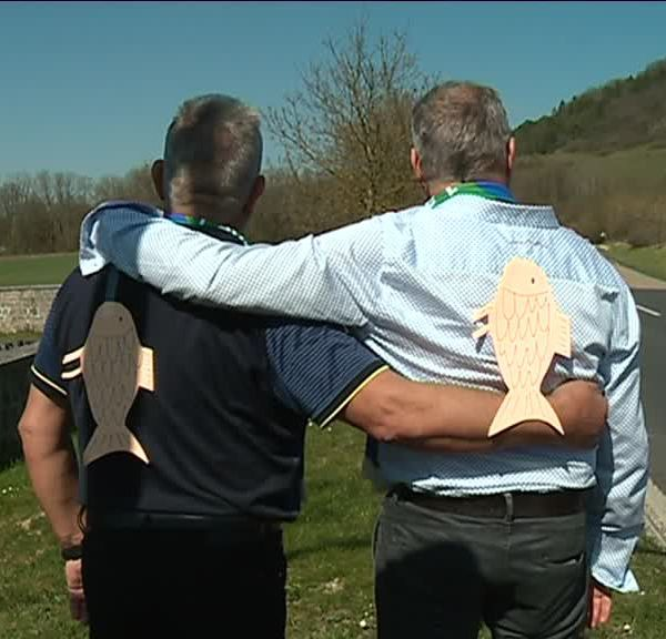 Les maires des communes jumelées Poissons (Haute-Marne) et Avril (Meurthe-et-Moselle)