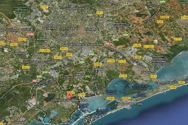 Carte Google Villeneuve-lès-Maguelone (Hérault)