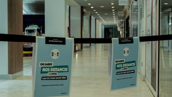 A Nancy, les magasins du centre commercial sont restés fermés pour cause de coronavirus. Tout à été mis en place pour ouvrir lundi 11 mai.