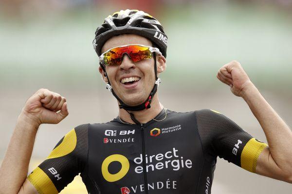 Lilian Calmejane victorieux à l'arrivée de la 8ème étape du Tour de France 2017