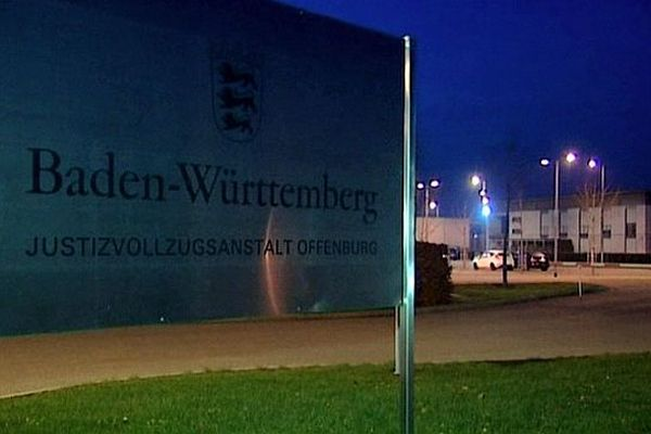 Offenbourg (Allemagne) - centre pénitentiaire où Kamel Bousselat est détenu depuis son interpellation à Oppenau - 19 novembre 2012.