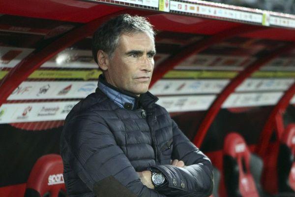Olivier Dall Oglio, l'entraîneur du Dijon FCO, club de Ligue 1 de foot