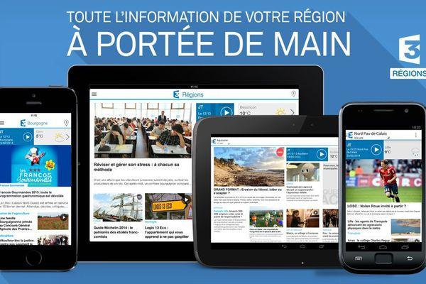 L'application mobile France 3 Régions - l'info régionale partout et à tout moment