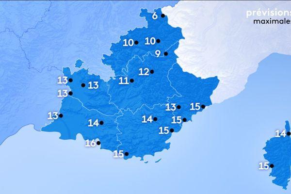 Les températures pour l'après-midi du 6 janvier sont douces pour la saison.