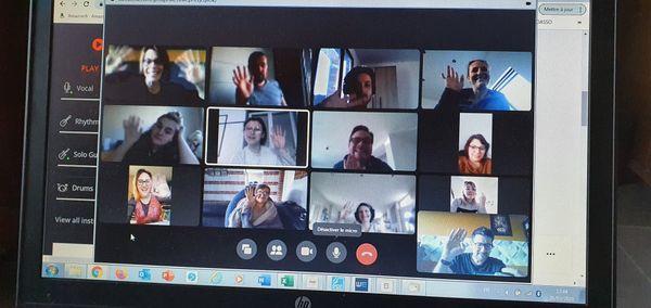 Le travail des acteurs, pendant le confinement, en visio-conférence en mars 2021