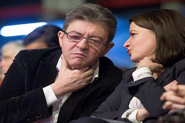 Jean-Luc Mélenchon et Cécile Duflot - 2015.