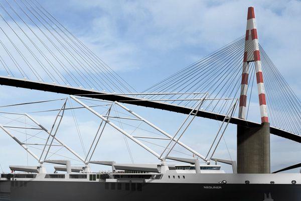 Le futur cargo à voile symbolisera la force du réseau régional. Un armateur nantais : Néoline et un chantier nazairien : Néopolia SAS