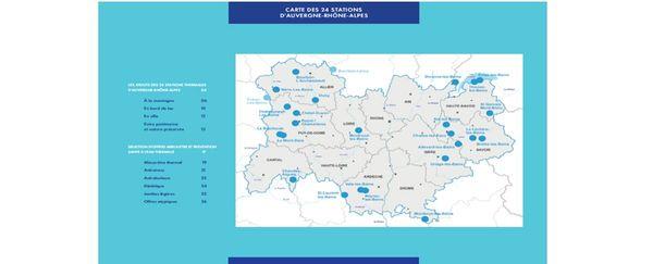 Auvergne-Rhône-Alpes compte 24 stations thermales