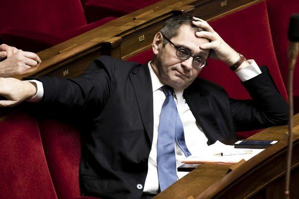 Le député de Lozère depuis 2002, Pierre Morel-à-l'Huissier, lors de questions au gouvernement à l'Assemblée nationale