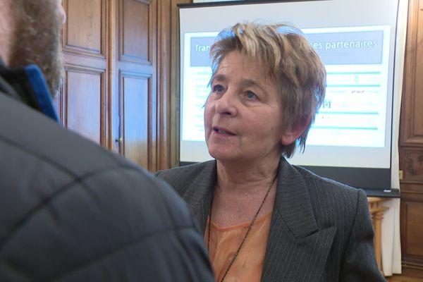 Marie-Guite Dufay à Besançon le 3 février 2020