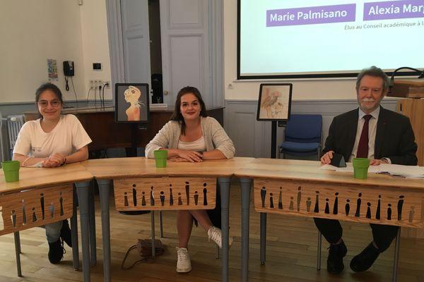 Le recteur d'Académie, Jean-François Chanet, a donné la parole aux représentants du Conseil académique de vie lycéenne.