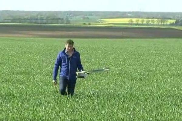 Des drones au service de l'agriculture, dans les Yvelines.
