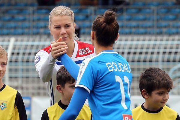 Ada Hegerberg, ballon d'or 2018, lors de la rencontre contre Soyaux, ce samedi 8 décembre.