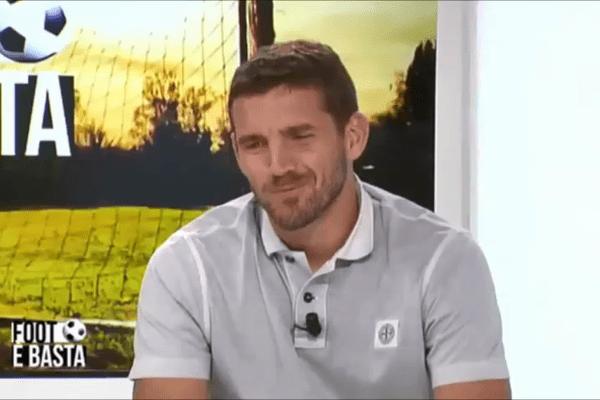 Jean-Louis Leca, nouveau gardien de l'AC Ajaccio, sur le plateau de Foot è Basta le 31 août 2017