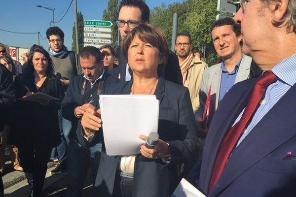 Martine Aubry, ce vendredi matin, à Lille.