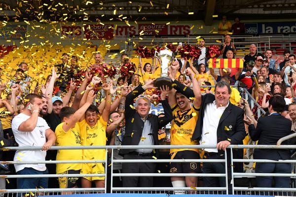 Perpignan - Carcassonne XIII remporte le coupe de France de rugby face aux Catalans - 9 juin 2019.