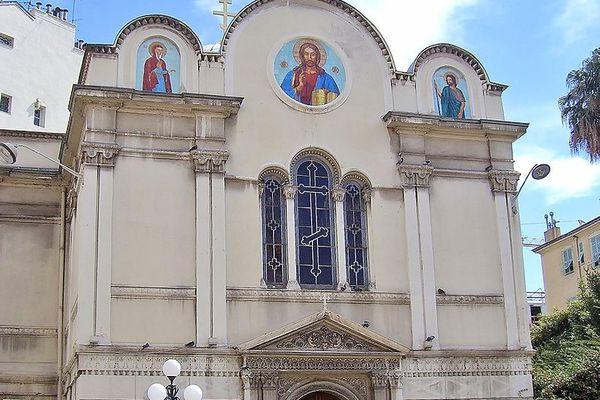 L'église Saint-Nicolas-et-Sainte-Alexandra, église russe-orthodoxe, rue Longchamp à Nice