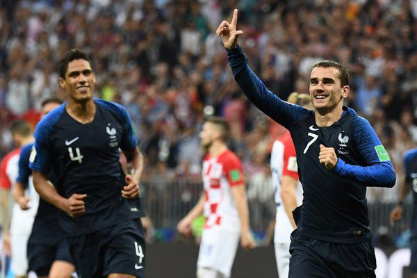 Antoine Griezmann le Bourguignon en finale de Coupe du monde de football entre la France et la Croatie