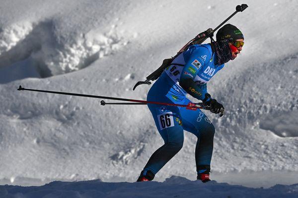 Anaïs Bescond aux championnats du monde de Pokljuka (Slovénie) le 13 février 2021