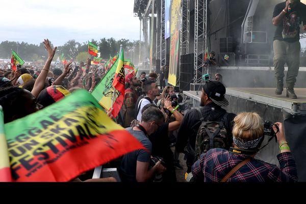 Talence en Gironde, le 06 août 2017 20°édition du Reggae Sun Ska Festival avec sur scène le groupe Harrison Strafford