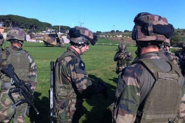 Mission d'entraînement  des parachutistes de Castres à Collioure