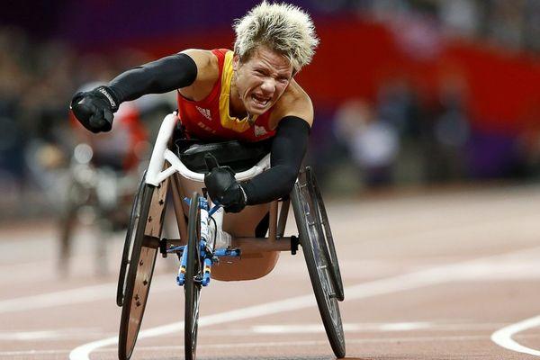 Marieke Vervoort aux Jeux Paralympiques de Londres en 2012.