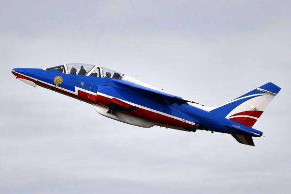 Mercredi 3 mars, les avions de la Patrouille de France étaient de passage près de Clermont-Ferrand.