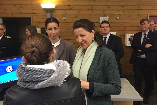 Agnès Buzyn, ministre de la Santé, était en visite dans la Manche le 3 mai.