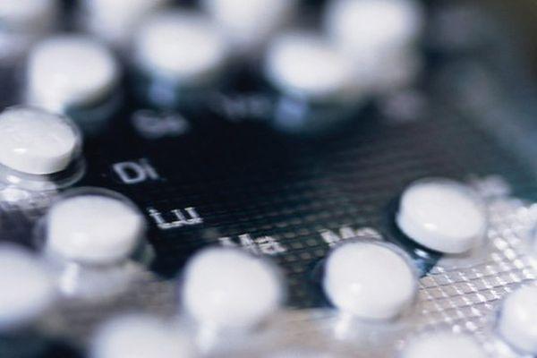Une plaquette de pilule contraceptive.