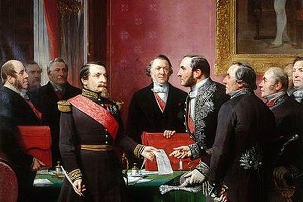 Napoléon III et Haussmann par Adolphe Yvon - Collection du Musée Carnavalet
