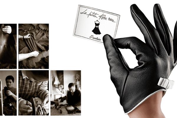"""Le gant """"La Petite Robe Noire"""" mêle des odeurs de cerise noire, de rose et de patchouli."""