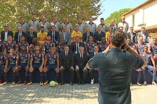 Montpellier - la nouvelle photo officielle du MHSC, sans loulou - 26 septembre 2017.