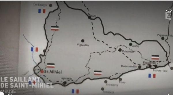 Carte - Le saillant de Saint-Mihiel