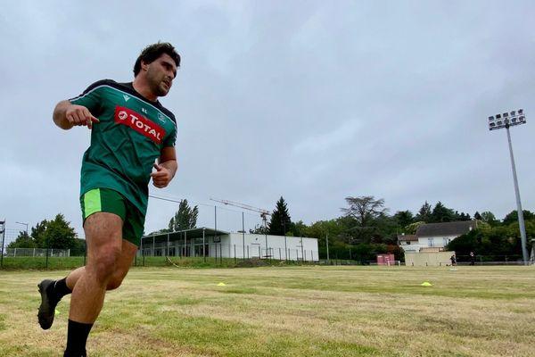 A l'image de Lucas Rey, les joueurs palois travaillent physiquement cette semaine.