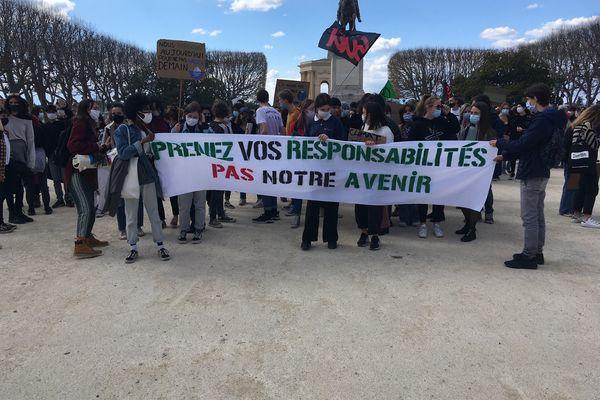 Le cortège est parti à 14 heures du Peyrou, à Montpellier.