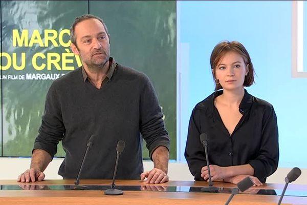 """Cédric Kahn et Diane Rouxel, sont à l'affiche de """"Marche ou crève"""". Sortie le 5 décembre. Les deux comédiens sont les invités du 12/13 Rhône-Alpes (27/11/18)"""