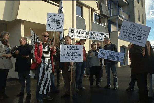 Manif à Quimper pour la réunification de la Bretagne