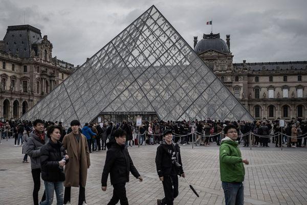 La pyramide du Louvre, le 4 mars dernier.