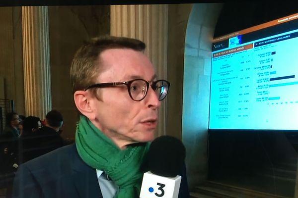Laurent Watrin, hier soir (Dimanche 15 mars 2020) sur France 3 Lorraine. A Nancy, Les Verts arrivent troisième avec 10% des suffrages