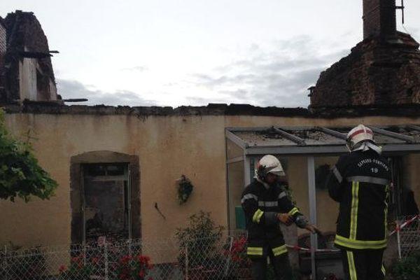 Maison incendiée au Pescher (Corrèze) après l'orage