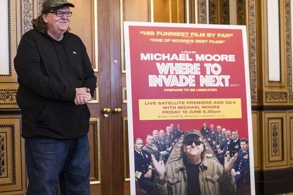 Michael Moore, à Londres en juin 2016, lors de la présentation de son film.