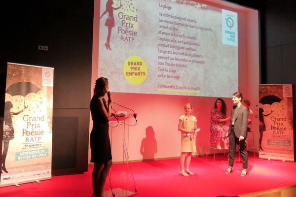 Iris lors de la soirée de remise des prix de la 5e édition du Grand prix poésie 2019, lundi 17 juin à Paris