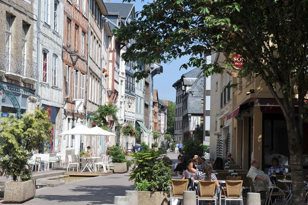 Rue Eau de Robec, à Rouen